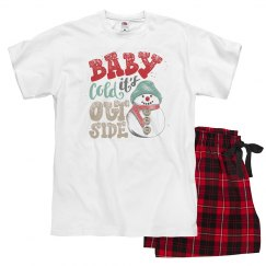 Snowman Baby it's cold outside pajamas for adults