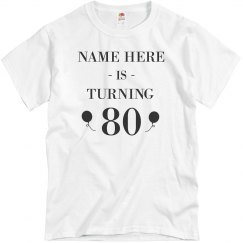 Customizable 80th Birthday Design