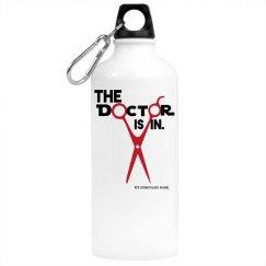 The Doctor is In - Water Bottle