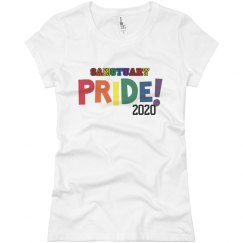 Sanctuary pride tee shirt