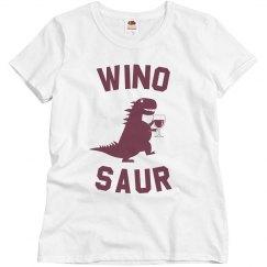 Wino-Saur Funny Wine Tee