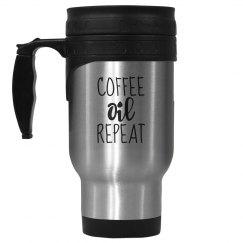 COFFEE OIL REPEAT Stainless Steel Travel Mug