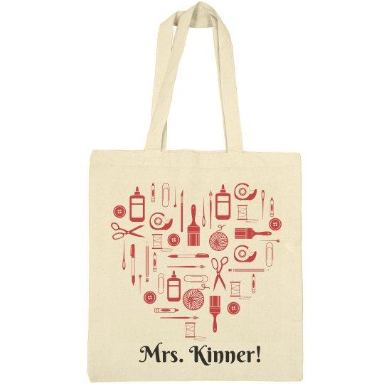 684de94d2f38 Elementary Teacher Bag With Custom Name