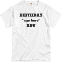 Customize birthday tee