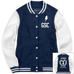 GSC Ladies Fleece Letterman Varsity Jacket