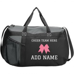 Custom Cheerleader Bow Practice Bag