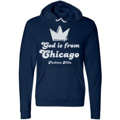 God is from Chgo Navy Pullover