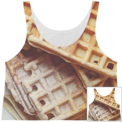 Waffle Crop Top All Over Print