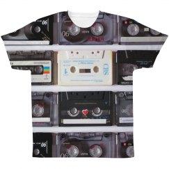 Retro Cassette Tapes Music Print