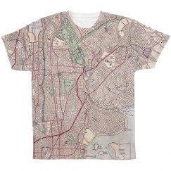 Vintage Wanderlust Manhattan Map