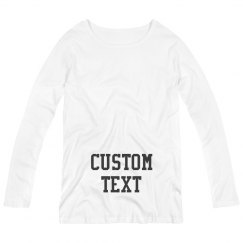 Personalized Long-Sleeve Maternity Tee