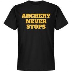 Archery never stops