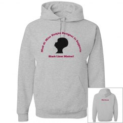 Black Lives They Matter Silhouette Hoodie