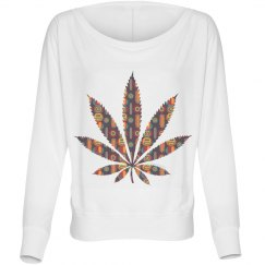 Tribal Cannabis Leaf