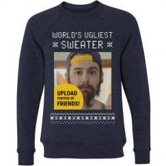 Best Friends Funny Photo Ugly Sweater