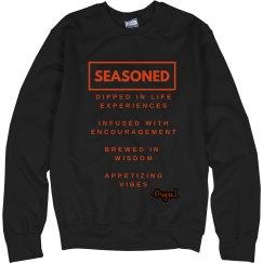 Seasoned Sweatshirt BLK/Orange