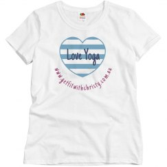 Classic fit 100% cotton pink love yoga