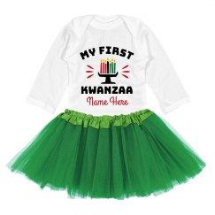 Baby's First Kwanzaa Custom Bodysuit
