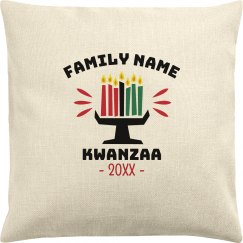 Family Name Custom Date Kwanzaa Pillow