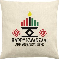 Custom Text Happy Kwanzaa Cover