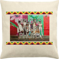 Photo Upload Kwanzaa Pillow Cover