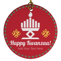 Happy Kwanzaa Custom Ornament
