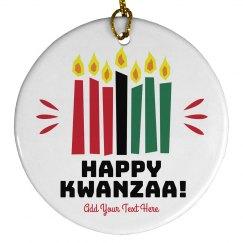 Happy Kwanzaa Candle Ornament
