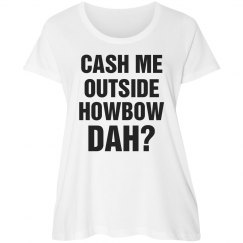 Howbow Dah Plus Size Text Tee
