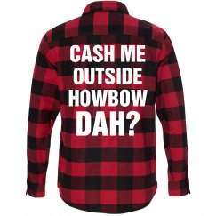 Howbow Dah Grunge Text Flannel