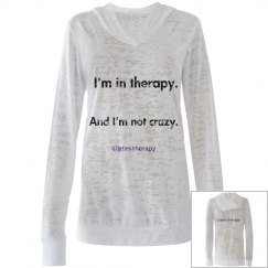 I'm in therapy THIN HOODIE