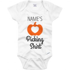 Custom Fall Picking Onesie