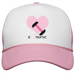 Pink Fit Nurse Hat