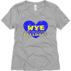 WYE Heart v-neck ladies