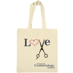 Love with Shears - Canvas Tote