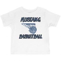 Toddler Tee-Mustang Basketball