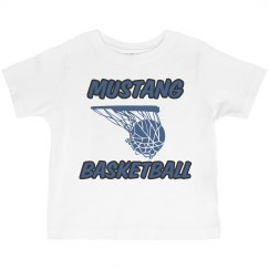 Toddler Tee-Mustang Basketball