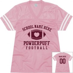 Cute Powderpuff Football Jerseys With Custom Name No.