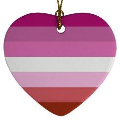 Lesbian Flag heart ornemant