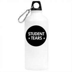 Student Tears Water Bottle