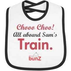 Infant boy train bib