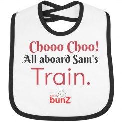 Infant boy train bib