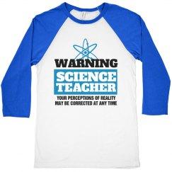 Warning Science Teacher