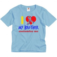 I Love My Brother Autism Ribbon