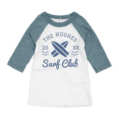 Custom Surf Club Summer Kid's Raglan
