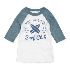 Custom Surf Club Summer Kid's Raglan