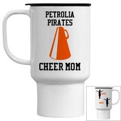 Cheer Mom Mug- 2 kids, peewee