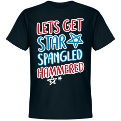 4th Of July Star Spangled Hammered