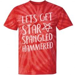 Star Spangled Hammered Tie-Dye
