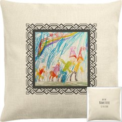 Add Your Kids Artwork Custom Pillow