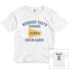 Youth Cheerleader w/ Back
